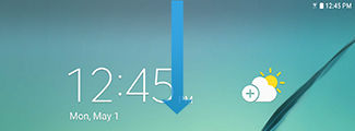 Samsung Galaxy Tab S2 swipe down the Notification panel