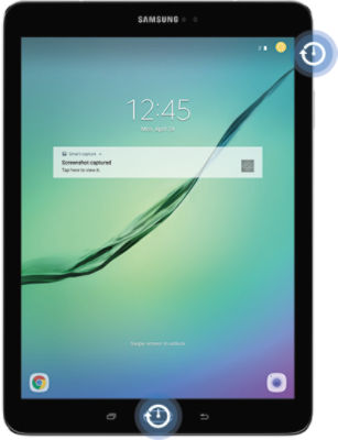 Samsung Galaxy Tab S2 press and hold Power and Home keys