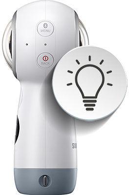 Samsung Gear360 Indicator Lights