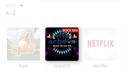 Samsung GearVR Library App More Options