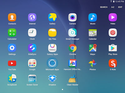 Samsung From the Home screen, touch Apps > Microsoft Apps