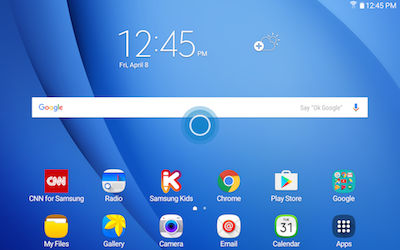 Samsung Touch and hold an empty space on the screen