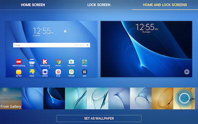 Samsung View Preloaded Wallpapers at the Bottom of Screen
