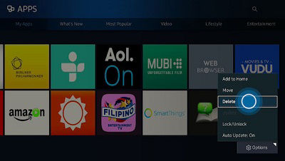 Samsung Smart Control Apps Screen