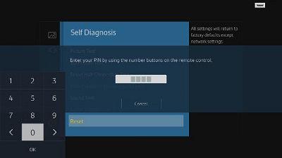 Samsung Self Diagnosis Pin Number Screen