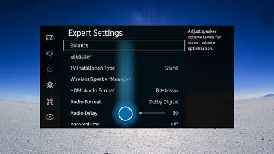Samsung Smart Control Expert Picture Settings Menu