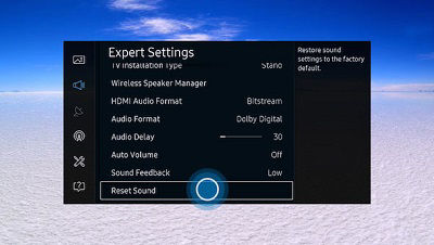 Samsung Smart Control Expert Settings Menu