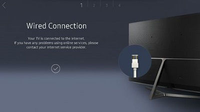 Samsung Wired Connection