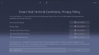 Samsung Smart Hub Terms and Conditions