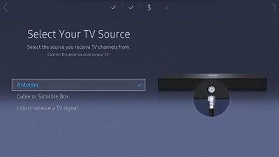 Samsung TV Source Selection