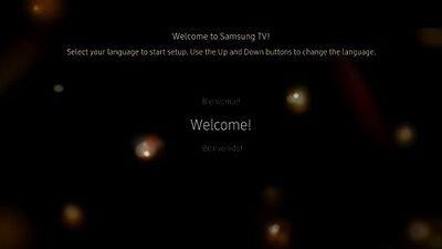 Samsung TV Language Selection
