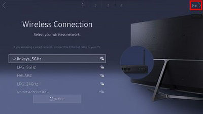 Samsung Wireless Connection Selection
