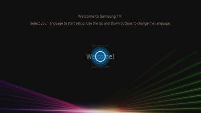 Samsung TV Setup Language Selection