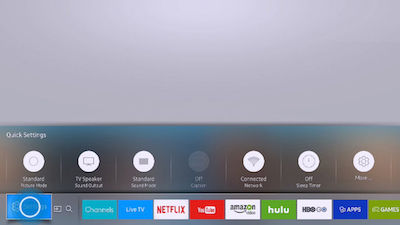 Samsung Enter the settings menu of your TV