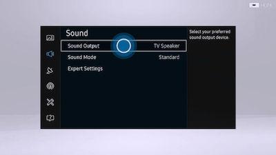 Samsung Select Sound Output