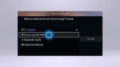 Samsung Select the model of your soundbar
