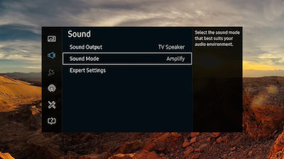 Samsung Sound Mode is Selected