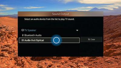 Samsung Select Desired Sound Output