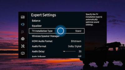 Samsung Select TV Installation Type
