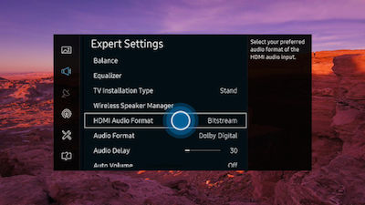 Samsung Select HDMI Audio Format