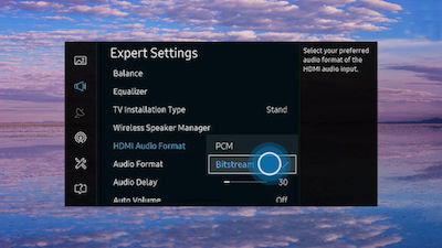 Samsung Select Desired Audio Format