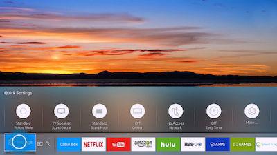 Samsung Bluetooth Headphones on the SUHD TV