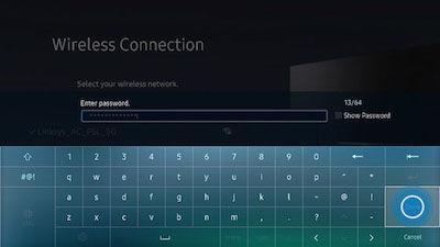 Samsung Enter Network Password
