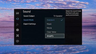 Samsung SUHD TV Sound Mode Menu