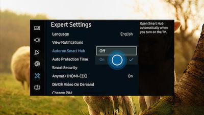 Samsung Select On to Enable Autorun Smart Hub