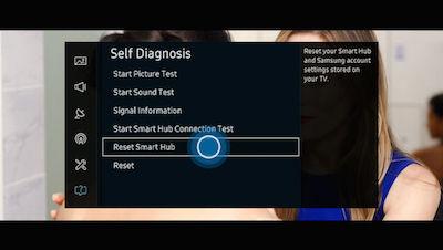 Samsung Select Reset Smart Hub