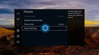 Samsung Select Expert Settings