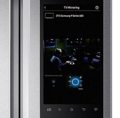 Using tv mirroring on the family hub refrigerator rf9500k for Mirror for samsung tv