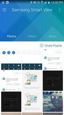 Samsung Smart View Main Screen