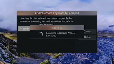 Samsung Smart TV Connecting Keyboard