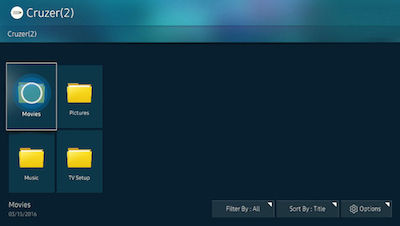 Samsung List of Folders on USB
