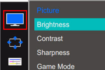 how to change monitor sharpness