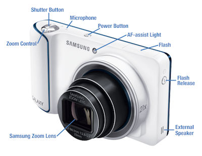 Samsung Galaxy Camera Features and Buttons