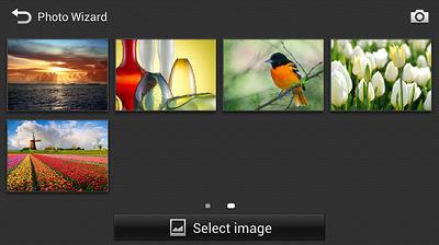 Samsung Galaxy Camera Edit Photo Wizard