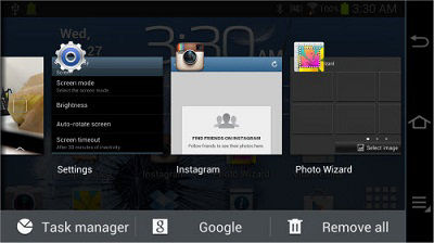 Samsung Galaxy Camera Task Manager End All