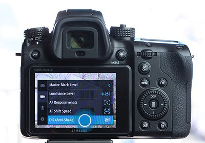 Samsung NX1 Camera Setting Up Anti-Shake Function
