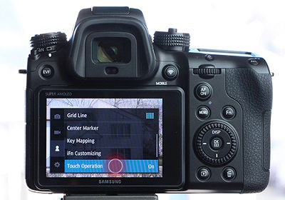 Samsung NX1 Camera Touch Operation On or Off