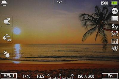 Samsung NX500 Camera Smart Mode Sunset