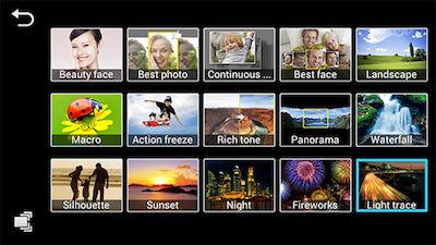 Samsung Galaxy Camera Smart Modes