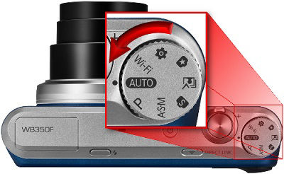 Samsung WB350F Camera Select Settings