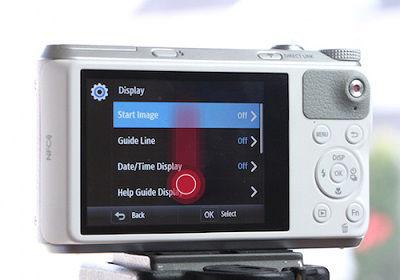 Samsung WB350F Camera Display Settings