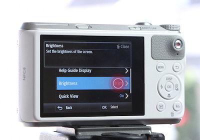 Samsung WB350F Camera Tap Settings