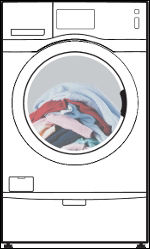 Samsung Front Load Washing Machine Load of Laundry Look Like