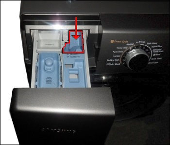 Samsung Front Loader Washing Machine with White Laundry