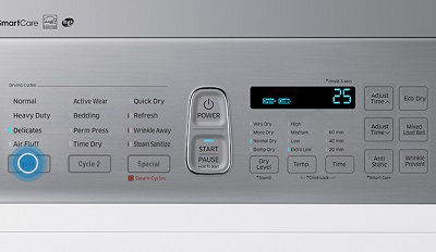 Samsung DV45K7600 Dryer with Delicates Cycle