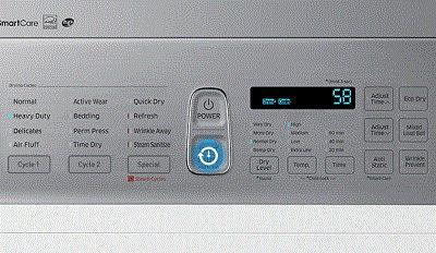 Samsung DV45K7600 Dryer with Heavy Duty Cycle